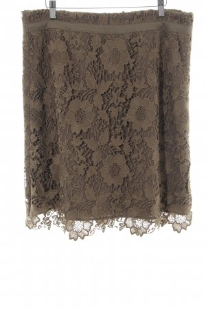 Comma Lace Skirt brown flower pattern elegant