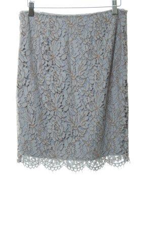 Comma Falda de encaje azul pálido-beige elegante