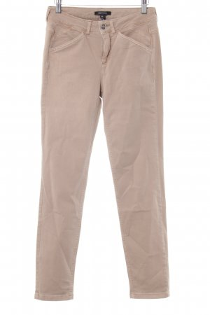 Comma Stoffhose apricot Casual-Look