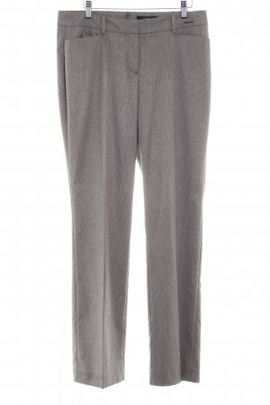 Comma Jersey Pants brown-natural white striped pattern business style