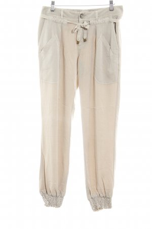 Comma Stoffhose creme Casual-Look