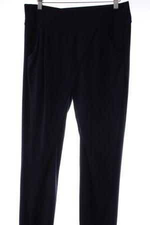 Comma Jersey Pants dark blue casual look