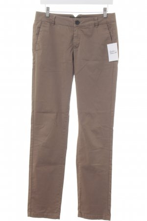 Comma Stoffhose hellbraun Casual-Look