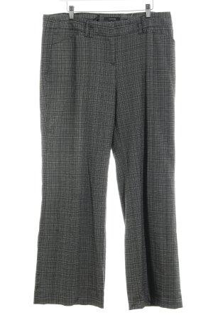 Comma Jersey Pants black-light grey check pattern business style