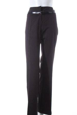 Comma Stoffhose schwarz-weiß Nadelstreifen Business-Look