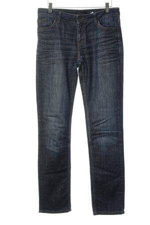 Comma Straight-Leg Jeans stahlblau Jeans-Optik