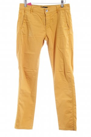 Comma Stretch Trousers dark yellow casual look
