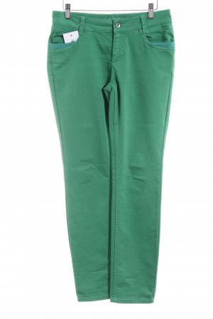 Comma Stretch Trousers green casual look