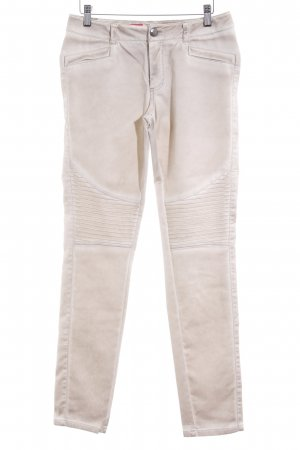 Comma Stretch Trousers oatmeal street-fashion look