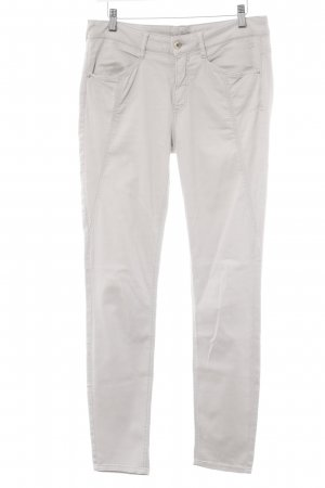 Comma Stretchhose hellgrau Casual-Look