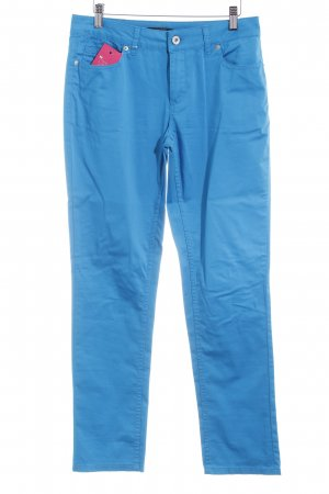 Comma Stretch Trousers neon blue casual look