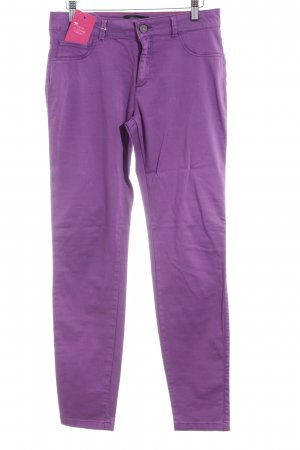 Comma Stretch Trousers violet casual look