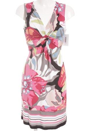 Comma Vestido elástico estampado con diseño abstracto look casual