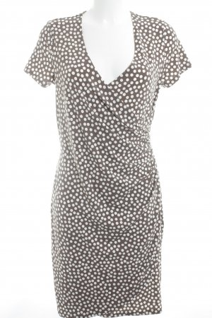 Comma Stretch Dress grey brown-white spot pattern casual look