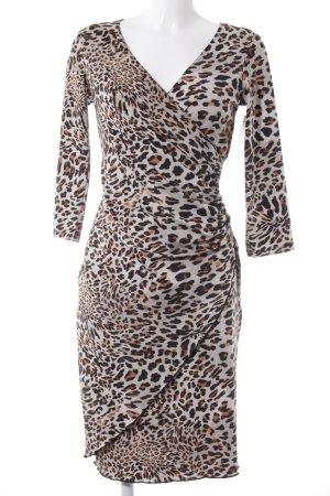 Comma Vestido elástico estampado de leopardo estilo extravagante