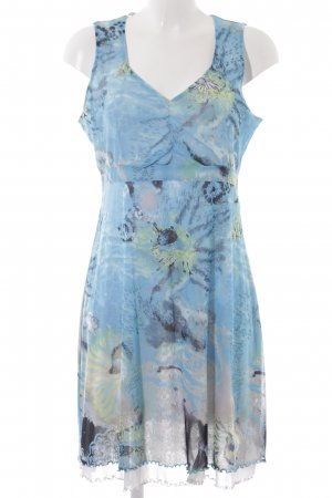 Comma Stretch Dress neon blue-light blue allover print casual look