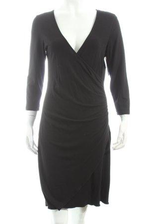 Comma Stretchkleid schwarz klassischer Stil