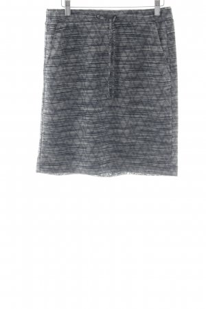 Comma Stretchrock grau-schwarz abstraktes Muster schlichter Stil