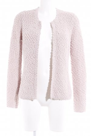 Comma Strick Cardigan altrosa-goldfarben Casual-Look