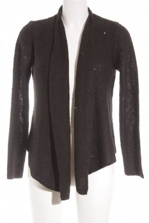 Comma Strick Cardigan schwarz Glanz-Optik