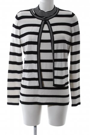 Comma Knitted Twin Set light grey-black striped pattern business style