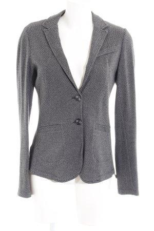 Comma Gebreide blazer grijs-zwart zigzag patroon klassieke stijl