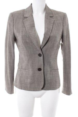 Comma Gebreide blazer grijs-bruin-wolwit gestippeld vintage uitstraling