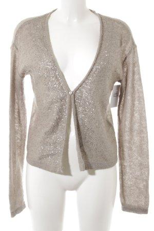 Comma Bolero lavorato a maglia beige-argento elegante