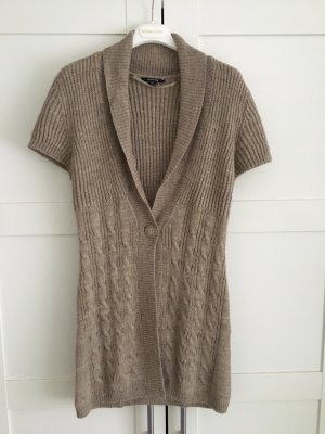 Comma Short Sleeve Knitted Jacket beige