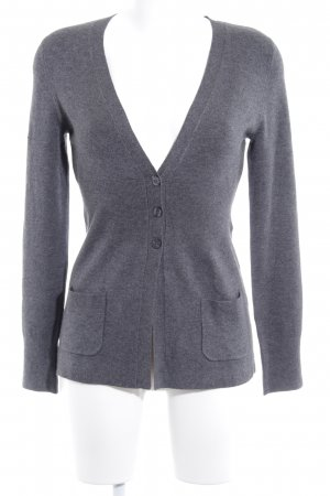 Comma Strickjacke grau Casual-Look