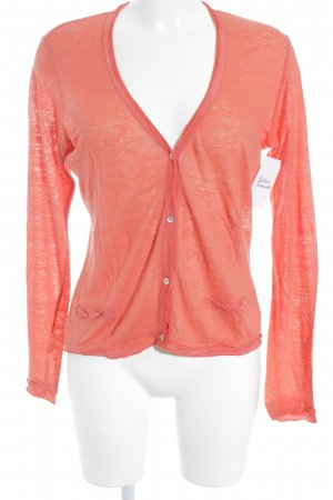 Comma Strickjacke lachs Casual-Look