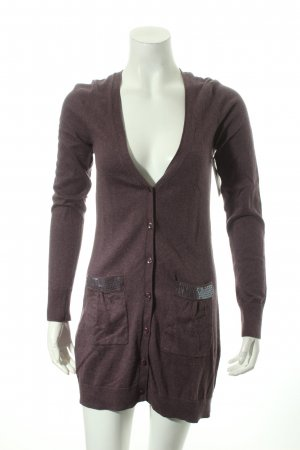 Comma Strickjacke lila Kuschel-Optik