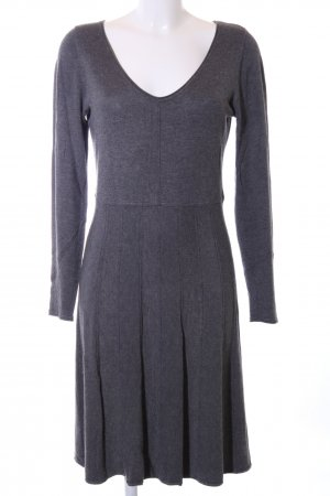 Comma Knitted Dress blue flecked casual look