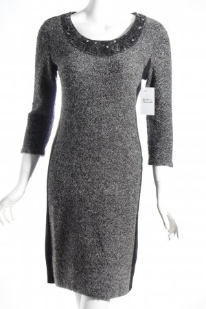 Comma Strickkleid grau meliert Casual-Look