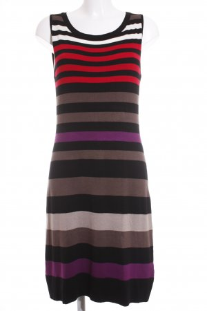 Comma Strickkleid Ringelmuster Casual-Look