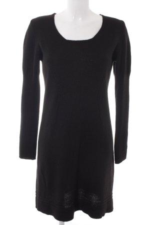 Comma Vestido tejido negro