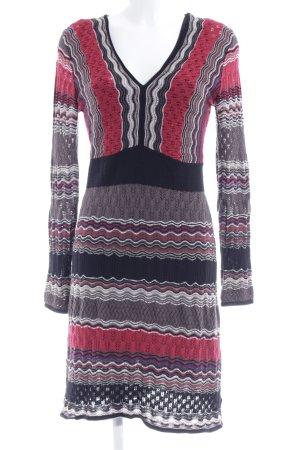 Comma Gebreide jurk gestreept patroon casual uitstraling