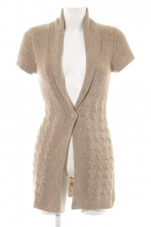 Comma Knitted Coat cream casual look