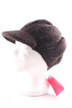 Comma Cappello a maglia marrone stile professionale