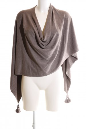 Comma Knitted Poncho brown casual look
