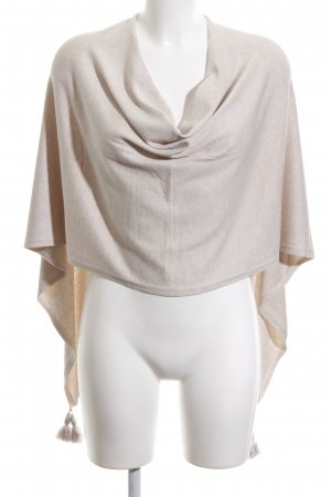 Comma Strickponcho creme Casual-Look