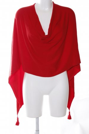 Comma Knitted Poncho red casual look