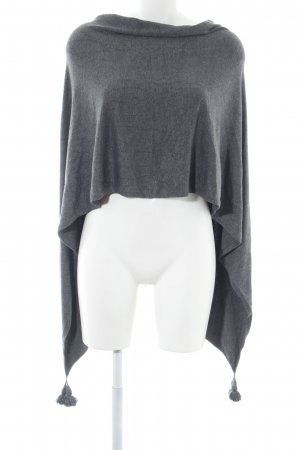 Comma Knitted Poncho light grey flecked casual look