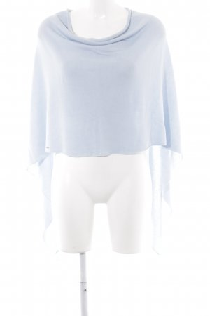 Comma Strickponcho himmelblau Casual-Look