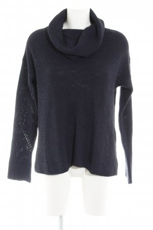 Comma Strickpullover dunkelblau Casual-Look