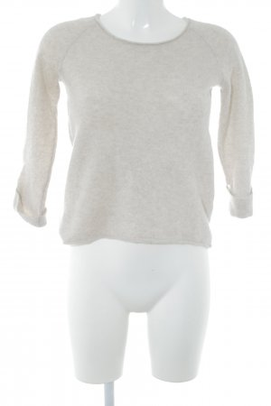 Comma Strickpullover hellbeige Casual-Look