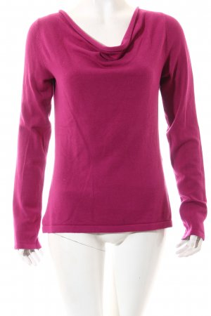 Comma Strickpullover magenta Casual-Look