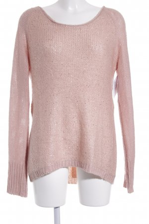 Comma Strickpullover rosé Glitzer-Optik