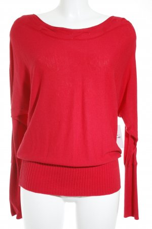Comma Strickpullover rot Casual-Look