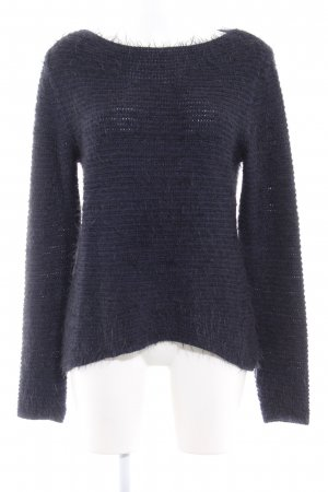 Comma Knitted Sweater black-dark blue flecked casual look
